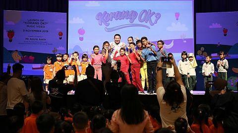 Amrin, 650 kanak-kanak senam bersama lancar video 'Korang OK?' KEMPEN HIDUP SIHAT 'KORANG OK?'