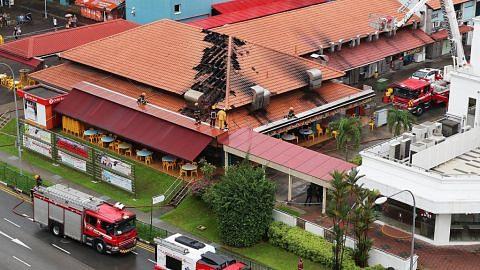 Kedai kopi di Jurong West terbakar, tiada yang cedera