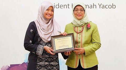 Berita Harian diberi penghargaan oleh Presiden Halimah