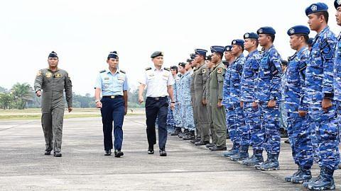 Angkatan udara S'pura, Indonesia selesai latihan udara bersama
