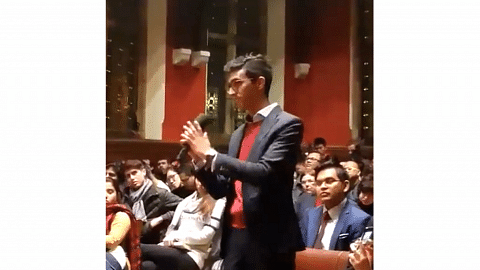 Singapore student Darrion Mohan defends his Oxford Union exchange with Mahathir