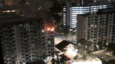 40 residents evacuated after fire engulfs Bendemeer Road HDB flat