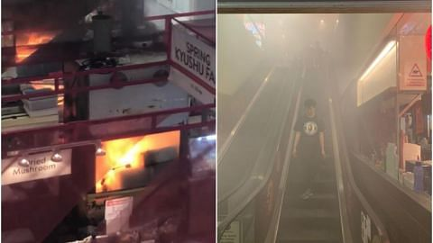 Tampines Mall reopens after fire at food fair in main atrium