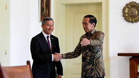Vivian Balakrishnan Called on President Jokowi