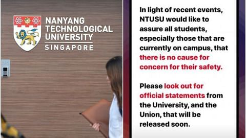 Police investigating NTU student for false information over alleged assault on campus