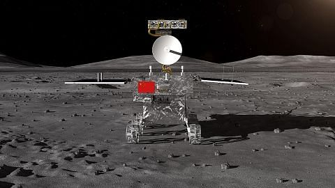 Kapal angkasa China darat di bulan