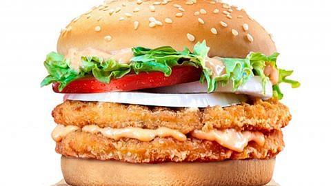 Burger guna sos mentaiko sempena Tahun Baru Cina