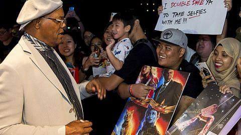 Bintang filem 'Captain Marvel' temui peminat di Singapura