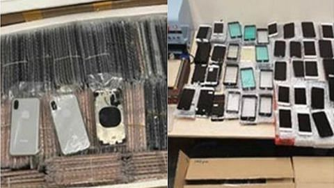 Tiga lelaki ditahan import telefon bimbit palsu