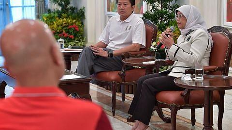 Kelembapan ekonomi peluang bagi firma latih pekerja: Presiden Halimah