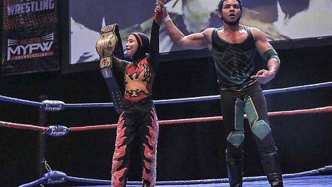 Wanita M'sia pertama juarai pertandingan gusti antarabangsa