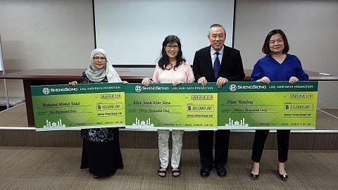 Nenek menang $10,000 dalam cabutan bertuah Sheng Siong