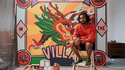 Projek lukis mural di Wisma Mendaki sempena Bulan Raikan Ilmu