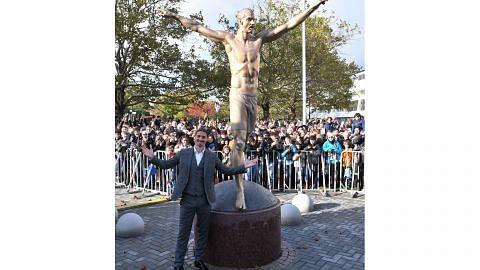 Patung gangsa untuk raikan sumbangan Ibrahimovic