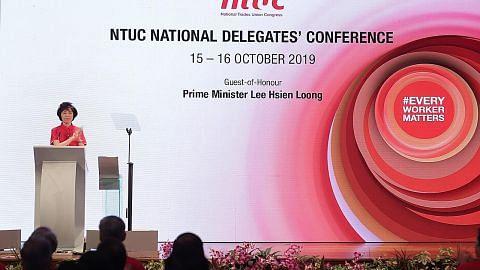 SIDANG PERWAKILAN NASIONAL KONGRES KESATUAN SEKERJA KEBANGSAAN 2019 Presiden NTUC: Gerakan buruh perlu manfaat teknologi