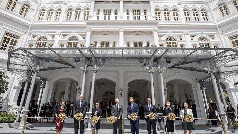 Hotel Raffles rasmi dibuka semula