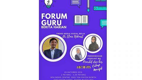 Forum Guru BH bincang guna podcast bagi rancakkan kelas Bahasa Melayu