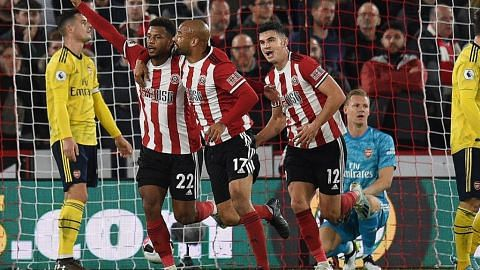 LIGA BOLA SEPAK ENGLAND Sheffield United atasi Arsenal, duduki 10 tangga teratas