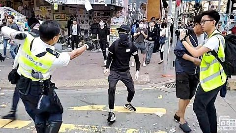 Kali ketiga polis HK tembak perusuh PERGOLAKAN DI HONG KONG