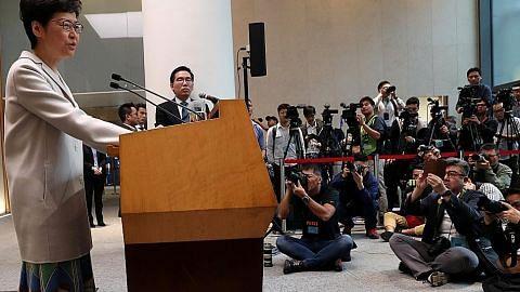 Pemimpin HK akui undi papar 'rasa tidak puas hati' terhadap pemerintah