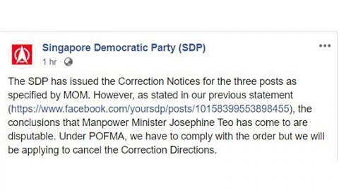 SDP patuhi notis pembetulan mengenai maklumat palsu tenaga kerja