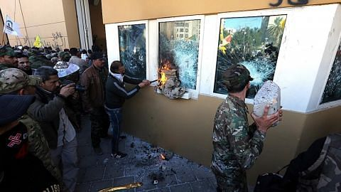Amerika kerah tentera selepas kedutaan di Baghdad diserang