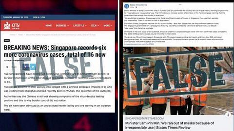 Pemerintah sangkal berita palsu tentang penularan, bekalan pelitup