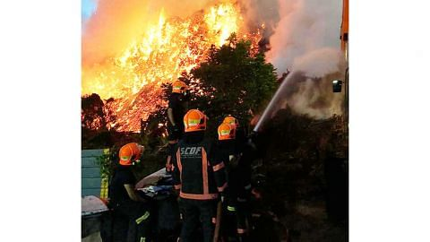 Kebakaran besar di Lorong Semangka