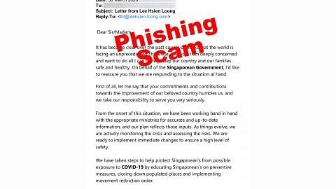 Awas e-mel palsu kononya dikirim PM Lee