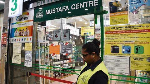 Mustafa Centre ditutup sekurangnya 2 minggu