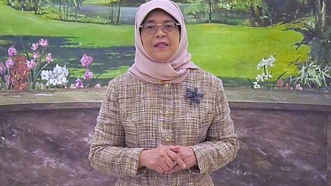 Presiden Halimah tersentuh 'sikap' murah hati warga SG