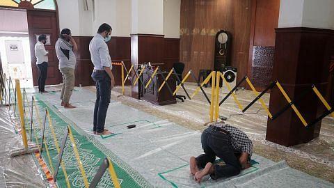 PEMBUKAAN SECARA SELAMAT MASJID PADA FASA 1B Masjid Omar Kampong Melaka walau tertua, dilengkapi teknologi canggih terkini