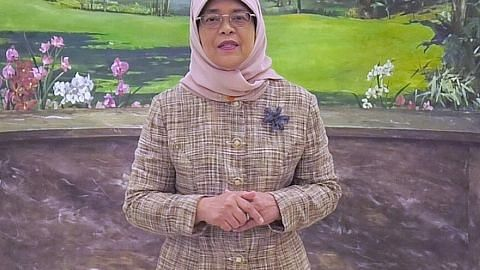 Presiden Halimah sanjung sumbangan ESM Goh dan bekas ketua WP Low