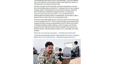 Iswaran kongsi laporan BH tentang pembangun laman web