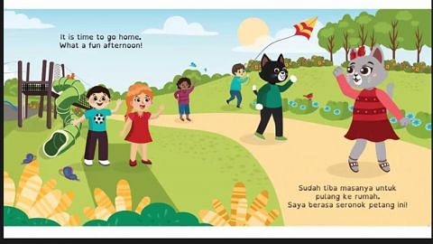 Buku dorong, ajar anak muda tutur dalam bahasa Melayu, Inggeris