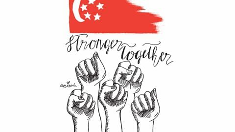 BEG SINGAPURA BERSAMA Murid darjah lima bangkit semangat negara lukis beg NDP