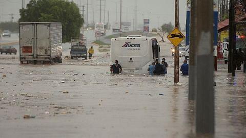 Taufan Hanna timpa kemusnahan di pantai Texas, AS, Mexico