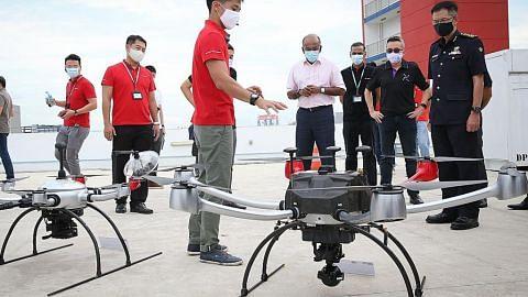 Dron Home Team laku kawalan keselamatan lebih luas, dalam