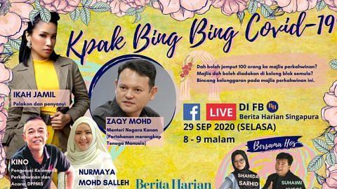 FB Live BH malam ini bincang kelonggaran majlis walimah