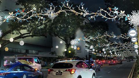Penyalaan Krismas Orchard Road diterus tanpa pesta makan, persembahan