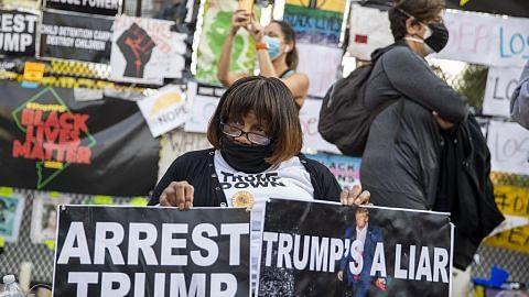 Protes kecil, aman sokong Biden muncul di beberapa negeri