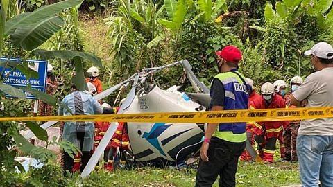 2 korban apabila dua helikopter bertembung sebelum terhempas di M'sia