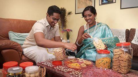 Sambutan Deepavali 'berganda' bagi pasangan muda