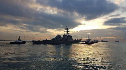 Beijing bantah 2 kapal perang AS lintas Selat Taiwan