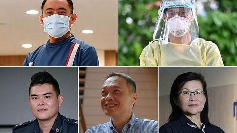 Pekerja barisan depan Tokoh Singapura 2020 The Straits Times