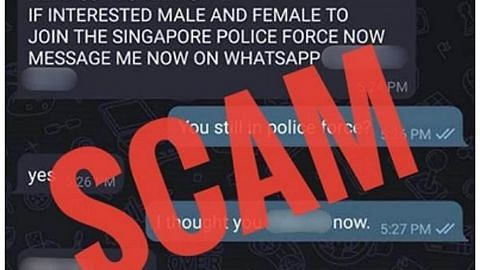 Awas mesej Telegram dari 'Pesuruhjaya Polis'