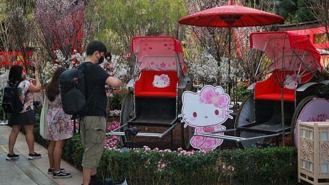 Nikmati musim sakura dengan Hello Kitty di Gardens by the Bay