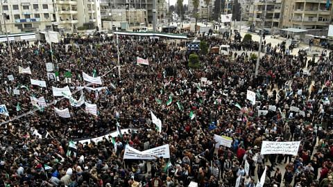 Ribuan berkumpul bagi ingati 10 tahun perang saudara di Syria
