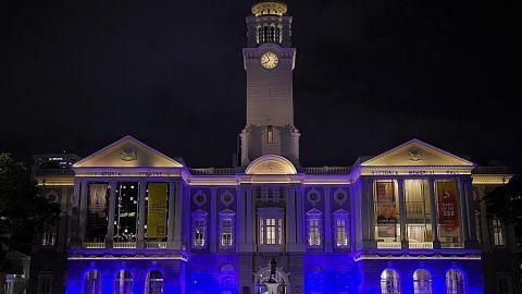 Kilauan biru bangunan sempena Hari Air Sedunia