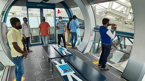 Lebih 4,000 pekerja migran naik Singapore Flyer guna baucar Teroka Semula SG ihsan warga